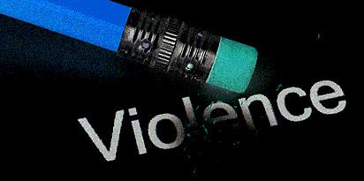 Pencil erasing violence