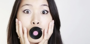 Woman eating licorice