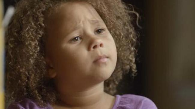 Young biracial girl from Cheerios commercial