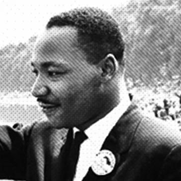 Close up of MLK