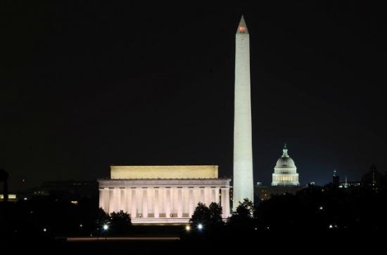 View of Washington DC landmarks