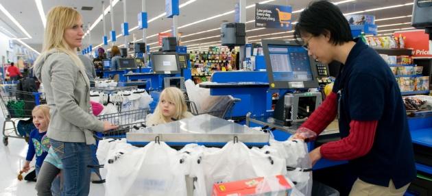 Cashier at Walmart