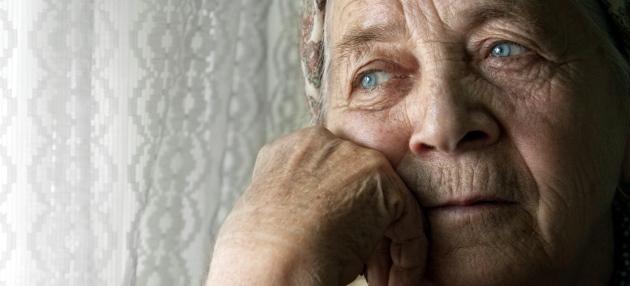 Portrait of pensive older woman