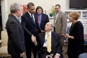 James Brady meeting with President Obama