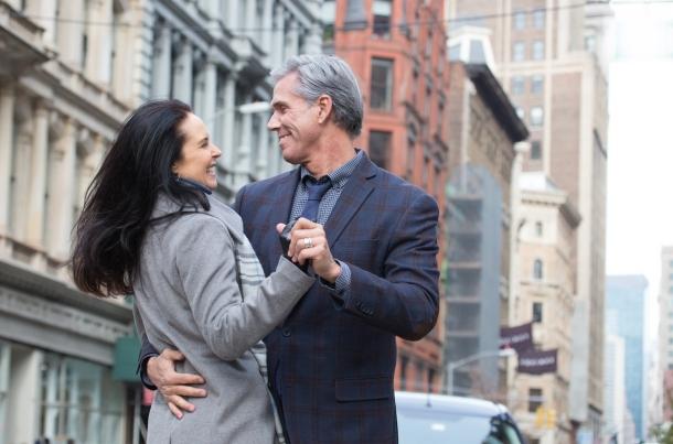 Romantic Mature Urban Couple